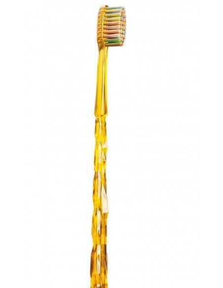 """Зубная щетка MontCarotte """"Ван Гог"""" мягкая, 0,15 мм, желтая"""