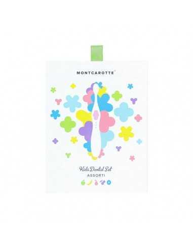"""Детский подарочный набор для чистки зубов, MontCarotte, """"Ассорти"""", Зеленый, 1 паста + 5 щеток"""