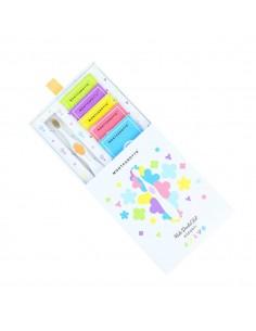 """Подарочный набор MontCarotte для детей """"Ассорти"""", Желтый, 1 паста + 5 щеток"""