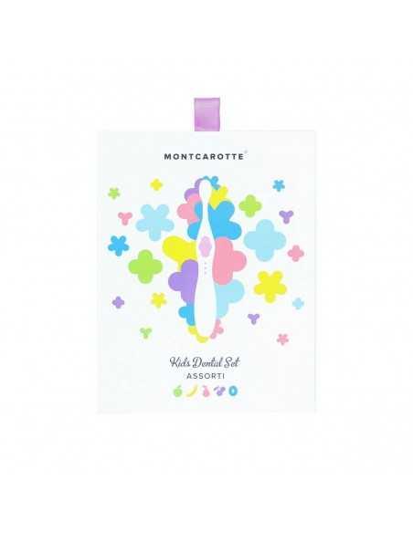 """Детский подарочный набор для чистки зубов, MontCarotte, """"Ассорти"""", Сиреневый, 5 паста + 1 щетка"""
