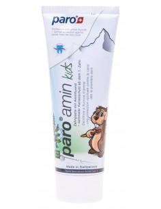 Детская зубная паста на основе аминофторид 500 ppm, 75 мл paro® amin kids