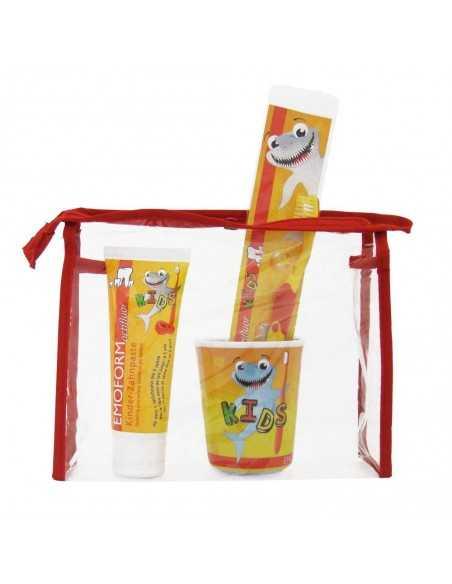 Дитячий набір для догляду за зубами EMOFORM actifluor KIDS Set, Wild-Pharma