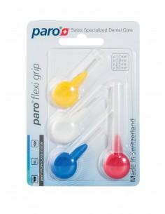 Межзубные щетки Paro Swiss flexi grip, набор образцов, 4 различных размера, 4 шт.