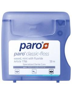 Зубная нить вощеная с мятой и фторидом, Paro Swiss classic-floss 50 м