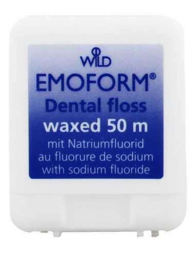 Флосс для зубов Dr. Wild Emoform, вощеная с фторидом натрия, 50 м