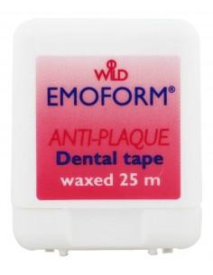 Вощеная зубная лента Dr.Wild Emoform Dental Tape Anti-Plaque Waxed, 25 метров
