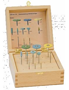 Набор боров и фрезов для зуботехнической лаборатории SET-1733