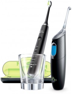 Набор Philips Black DiamondClean + AirFloss Ultra HX8491/03