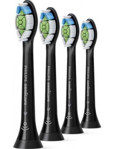 Насадки для звуковых зубных щеток Philips BHs W2 OptimalWhite Black 4BHs HX6064/11, 4 шт.