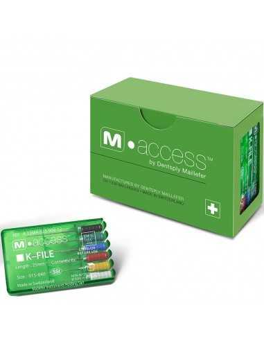 Эндодонтические инструменты (файлы) K-File M-Access № 25, длина 25 мм, 6 шт.