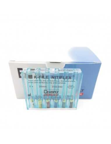 Эндодонтические инструменты (файлы) K-File Nitiflex № 15 - 40, длина 25 мм, 6 шт.