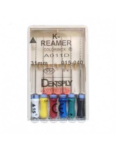 Эндодонтические инструменты (файлы) K-Reamer Ready Steel № 15 - 40, длина 25 мм, 6 шт.