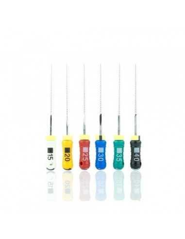 Эндодонтические инструменты (файлы) K-FlexoFile ReadySteel № 10, длина 25 мм, 6 шт.