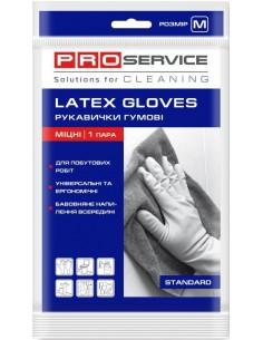 Перчатки универсальные латексные Standard, PRO Service, 1 пара (120шт / ящ)