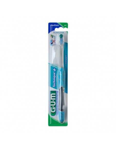 Зубная щетка GUM TECHNIQUE PLUS, компактная, средне-мягкая
