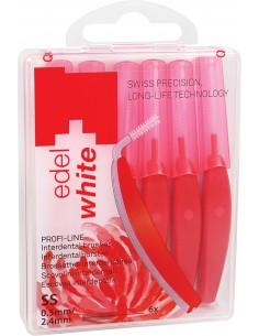 Щетки Edel White Profi-Line для межзубных промежутков SS 0.5/2.4 мм, 6 шт.