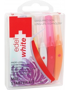 Щітки Edel White Profi-Line для міжзубних проміжків Mix, 6 шт.