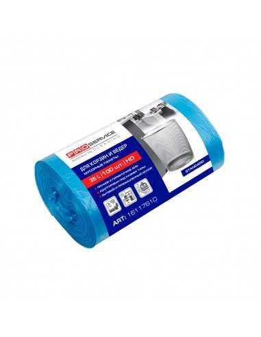 Пакет для мусора п/э PRO Service, синий, 50 * 55 ХД 35л / 100шт.