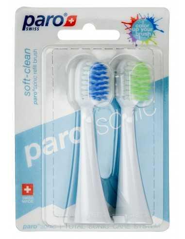 Сменные насадки для звуковой зубной щетки Swiss Hydrodynamic, soft-clean, 2 шт.