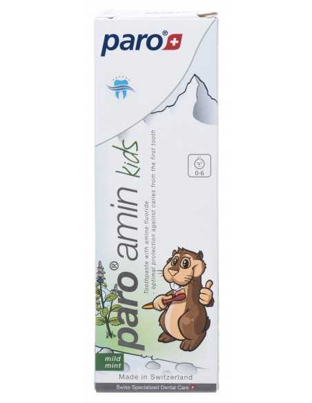 Детская зубная паста на основе аминофторид 500 ppm, 75 мл Paro Swiss amin kids, от 1 до 6 лет