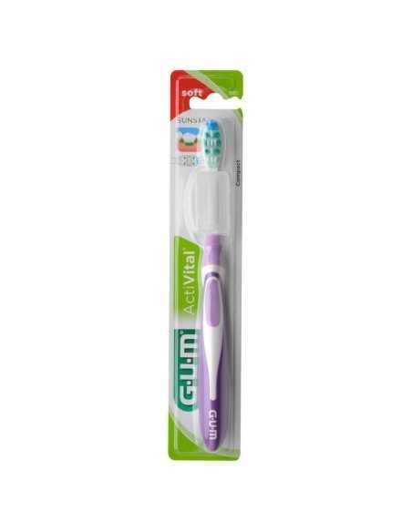 Зубна щітка GUM ACTIVITAL, компактна, м'яка