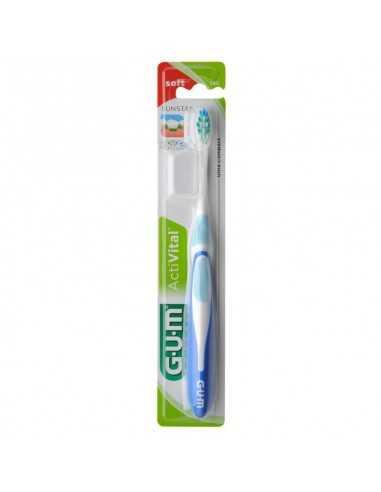 Зубная щетка GUM ACTIVITAL, компактная, ультра-мягкая