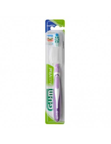 Зубная щетка GUM ACTIVITAL, компактная, средне-мягкая
