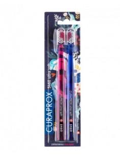 Набір зубних щіток Duo Love Edition Ultrasoft Curaprox D 0, 10 мм, 2 шт.