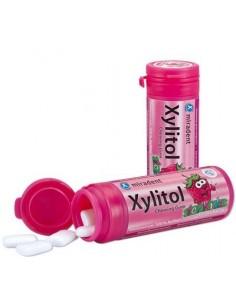 Жевательная резинка Miradent Xylitol Chewing Gum для детей, клубника, 30 шт.