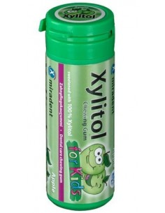 Жевательная резинка Miradent Xylitol Chewing Gum для детей, яблоко, 30 шт.