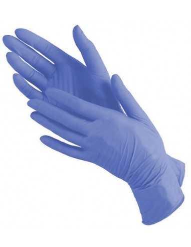 Перчатки медицинские нитриловые нестирильный Polix PRO&MED (100 шт./уп.) цвет: Purple blue