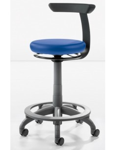 Стул CARL Manual Plus, вращающееся вручную на 360°, с кольцевой опорой для ног, Dentsply Sirona