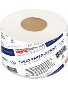 Туалетная бумага PRO Service OPTIMUM, макулатурная, однослойная, серая, 100 м, 16 шт./уп.
