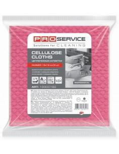 Серветки целюлозні PRO Service, 18х18 см, 5 шт./уп., рожеві