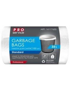 Пакет для сміття п/е PRO Service HD, 50х55 см, 35 л/100 шт., білий