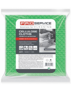 Серветки целюлозні 18*18 см, 5шт., (32шт/ящ), PRO Service, зелений
