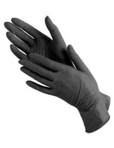 Перчатки медицинские нитриловые нестирильный Polix PRO&MED (100 шт./уп.) цвет: Black