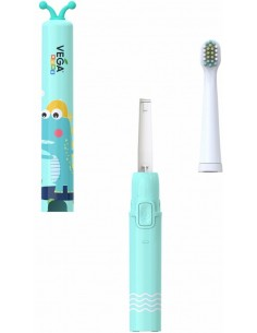 Электрическая зубная щетка Vega Kids VK-500B, бирюзовая