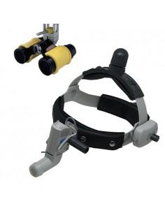 Комплект: беспроводные бинокулярные лупы HL8000 и налобный