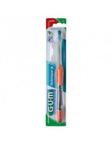 Зубная щетка GUM TECHNIQUE PLUS, полная, средне-мягкая